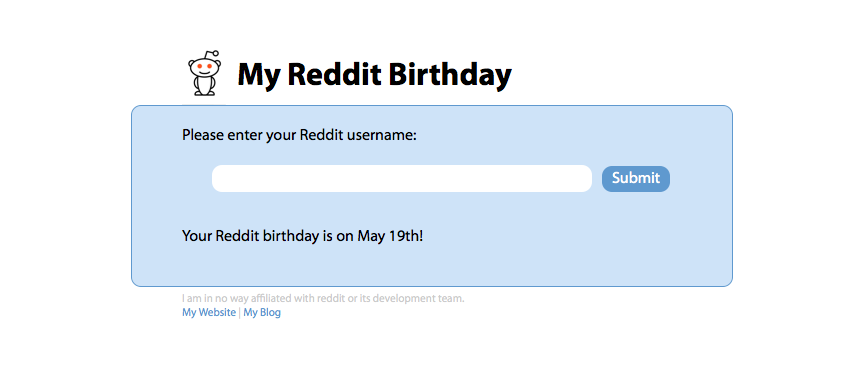 Reddit Birthday Looker Upper