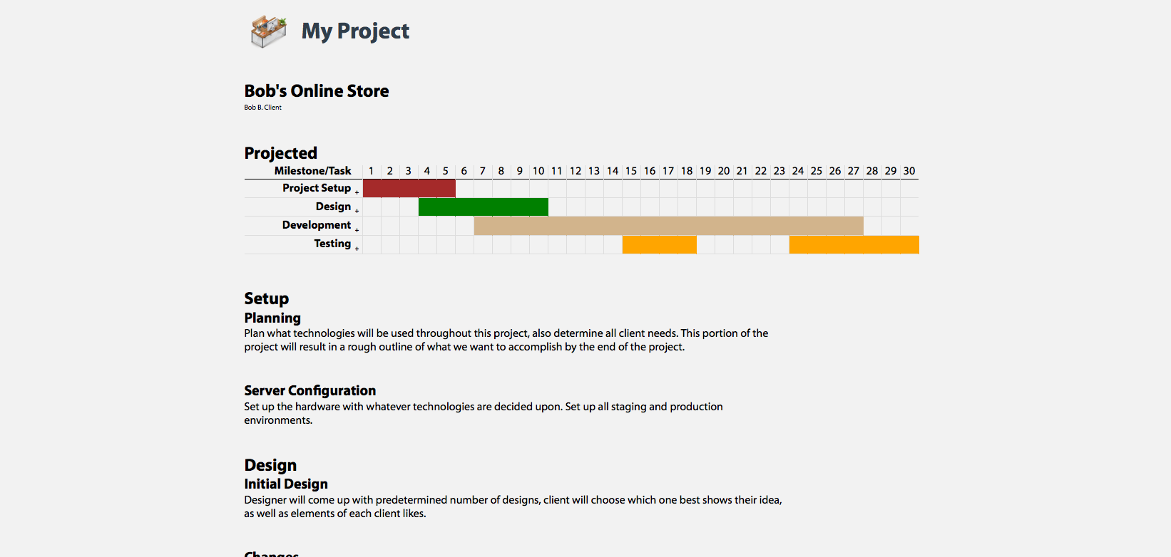 My Project - Client/Project Management